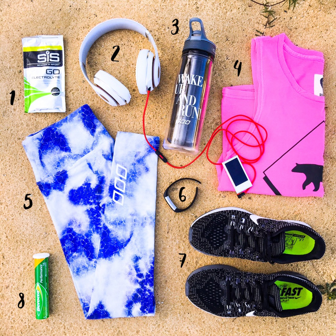 <p>As a fitness, Fitbit and flatlay fan I thought I'd share the top things I reach for when it comes working out.</p>